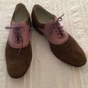 Cole Haan Oxford's in tan and pink